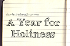 A year for holiness