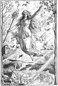 Ostara (aka Estre; Eostre) by Johannes Gehrts